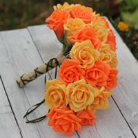 cascade paper flowers bouquet, cascade bouquet, cascading bouquet, cascade roses
